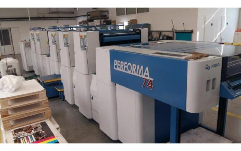 2005 KBA PERFORMA 74-5 SW2 Sheet fed offset printing machine